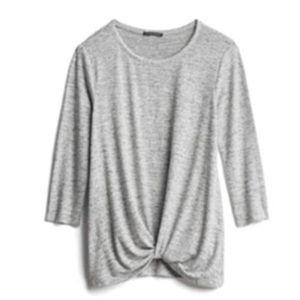 Staccato denver front twist scoop neck knit top